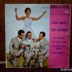 Discos de vinilo: LUISA LINARES Y LOS GALINDOS - MI GAZAPILLO + 3 . Lote 67501141