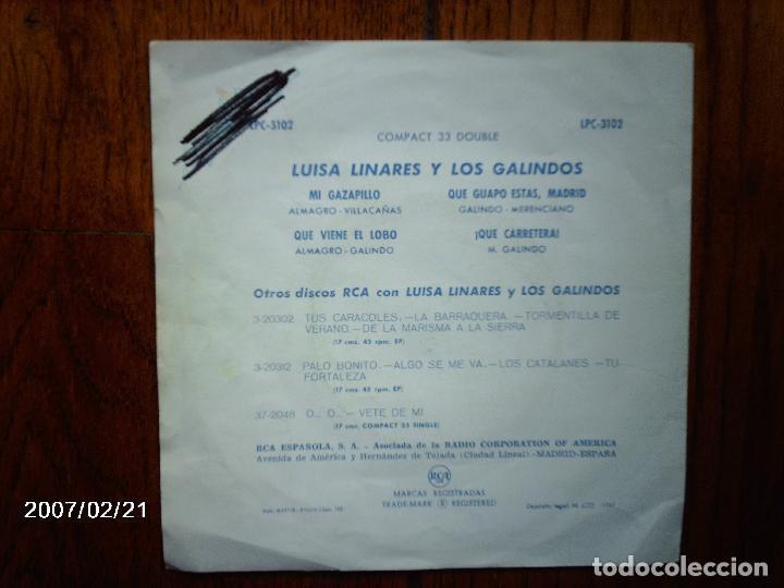 Discos de vinilo: luisa linares y los galindos - mi gazapillo + 3 - Foto 2 - 67501141