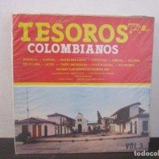 Discos de vinilo: TESOROS COLOMBIANOS 1984 VOL.3 VINILO LP T62 VG. Lote 67511637
