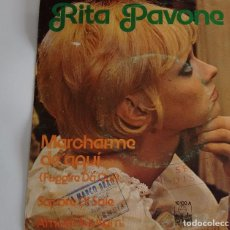 Discos de vinilo: SINGLE EP MAXISINGLE VINILO RITA PAVONE EN ESPAÑOL CANCION ITALIANA SAPORE DI SALE MARCHARME DE AQUI. Lote 67516193