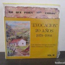 Discos de vinilo: BAMBUCO TANGO VALS PASILLO EVOCACION VINILO LP T62 VG+. Lote 67539773