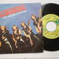 Discos de vinilo: SCORPIONS - COMIN HOME +1 - SINGLE PROMO HARVEST ESPAÑA 1984 // HEAVY METAL. Lote 67540405