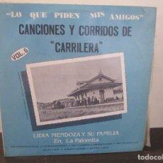 Discos de vinilo: CANCIONES Y CORRIDOS DE CARRILERA VOL.6 VINILO LP T62 VG+. Lote 67541521