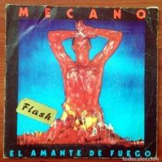 Discos de vinilo: MECANO: EL AMANTE DE FUEGO, SINGLE CBS A 3594. SPAIN, 1983. VG+/VG. PEGATINA EN PORTADA. Lote 67544625