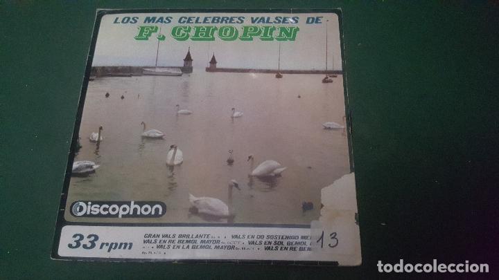 LOS MAS CELEBRES VALSES DE F. CHOPIN. RAYMOND TROUARD. PIANO. 1964 (Música - Discos - Singles Vinilo - Clásica, Ópera, Zarzuela y Marchas)