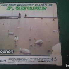 Discos de vinilo: LOS MAS CELEBRES VALSES DE F. CHOPIN. RAYMOND TROUARD. PIANO. 1964. Lote 67551297