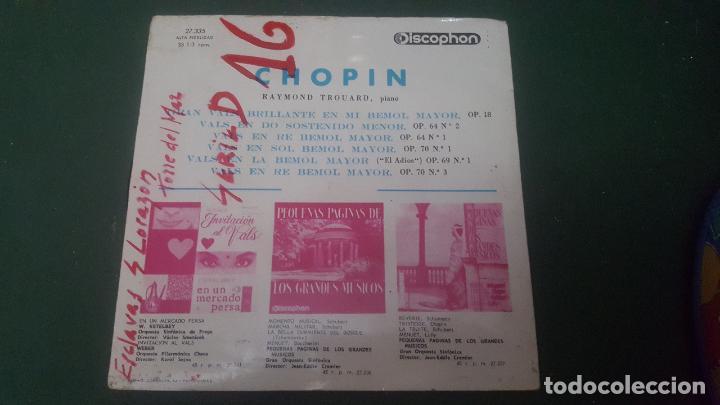 Discos de vinilo: LOS MAS CELEBRES VALSES DE F. CHOPIN. RAYMOND TROUARD. PIANO. 1964 - Foto 2 - 67551297