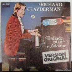 Discos de vinilo: DISCO VINILO RICHARD CLAYDERMAN Nº 1 EN FRANCIA BALLADE POUR ADELINE VERSION ORIGINAL. Lote 67588133
