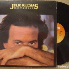 Discos de vinilo: JULIO IGLESIAS MOMENTOS LP CBS 1982*PORTADA DOBLE. Lote 67604289