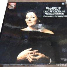 Discos de vinilo: EL ARTE DE VICTORIA DE LOS ANGELES OPERA ZARZUELA CANCIONES 1949 A 1969 CAJA 3 DISCOS EMI 1982. Lote 67616769