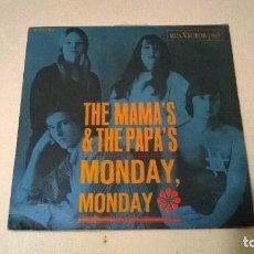Discos de vinilo: THE MAMA´S & THE PAPA´S - MONDAY, MONDAY + CALIFORNIA DREAMIN´- RCA - AÑO 1966. Lote 67620617