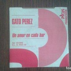 Discos de vinilo: SINGLE GATO PEREZ, PICAP PROMOCIONAL D.L. B.4033-87 AÑO 1987. Lote 67621881