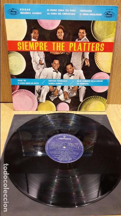 SIEMPRE THE PLATTERS. LP / MERCURY - 1962 / MBC. ***/*** LEVES MARCAS (Música - Discos - LP Vinilo - Funk, Soul y Black Music)
