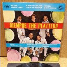 Discos de vinilo: SIEMPRE THE PLATTERS. LP / MERCURY - 1962 / MBC. ***/*** LEVES MARCAS. Lote 67634025