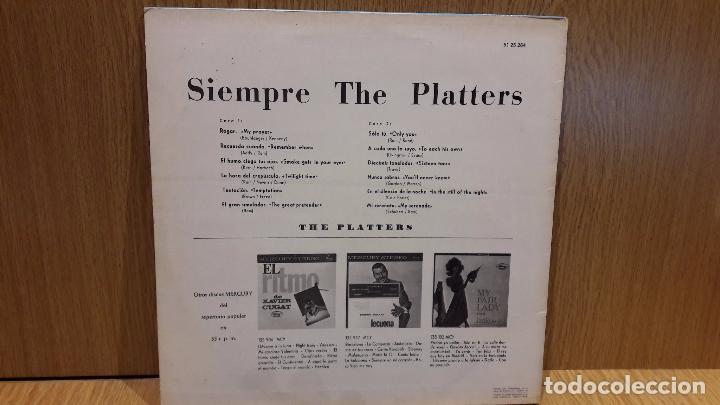 Discos de vinilo: SIEMPRE THE PLATTERS. LP / MERCURY - 1962 / MBC. ***/*** LEVES MARCAS - Foto 2 - 67634025