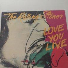 Discos de vinilo: THE ROLLING STONES (LOVE YOU LIVE) 2LP. MUY BUEN ESTADO. Lote 67664145