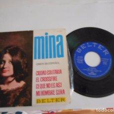 Discos de vinilo: MINA-EP CIUDAD SOLITARIA +3-1964. Lote 67673289