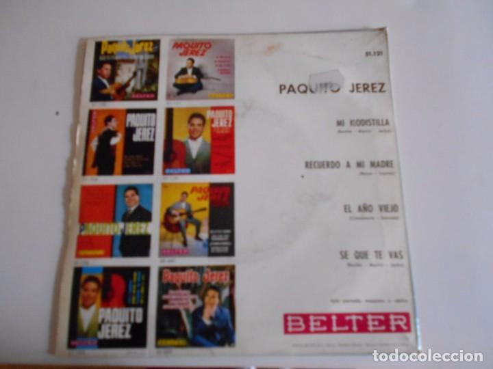 Discos de vinilo: PAQUITO JEREZ-EP MI MODISTILLA +3 1964 - Foto 2 - 67683417