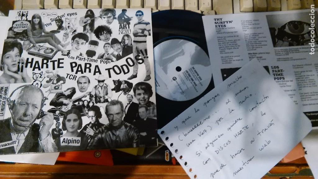 ¡HARTE PARA TODOS! EP.ALPINO.TCR.LOS PART-TIME POPS.THY SURFYN' EYES.ESPAÑA 2004.RAREZA (Música - Discos de Vinilo - EPs - Grupos Españoles de los 90 a la actualidad)
