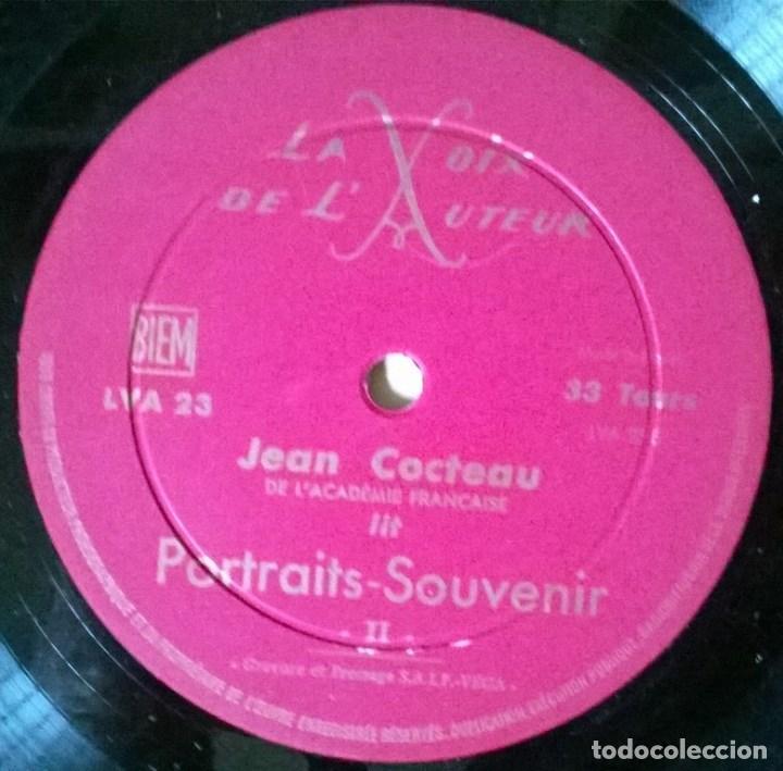 Discos de vinilo: Jean Cocteau. Portraits- Souvenir. La voix de l'auteur LVA 23, France 1963 LP - Foto 4 - 67721433
