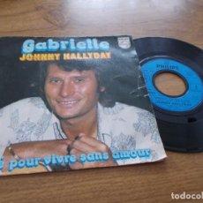 Discos de vinilo: JOHNNY HALLYDAY. GABRIELLE. Lote 67725437