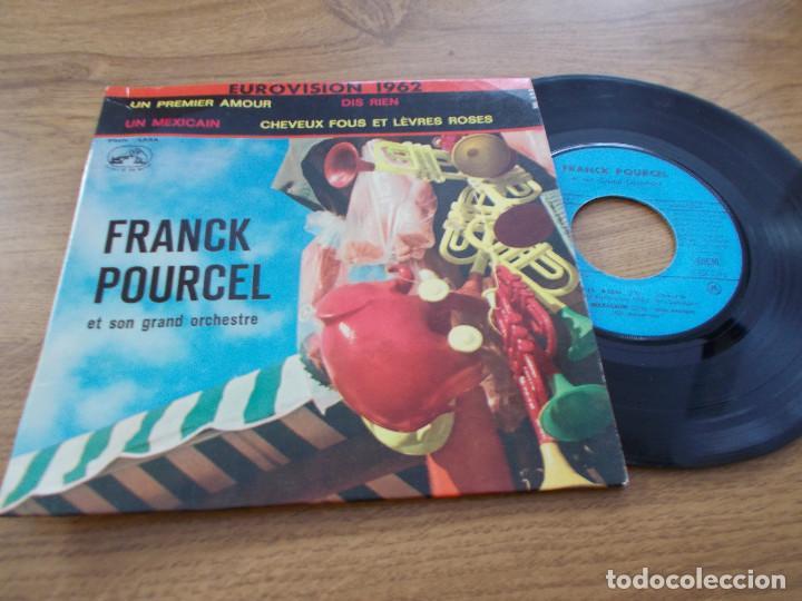 FRANCK POURCEL, UN PREMIER AMOUR, (Música - Discos de Vinilo - EPs - Festival de Eurovisión)