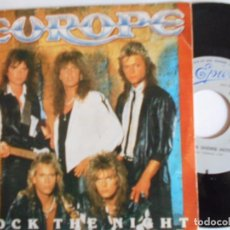 Discos de vinilo: EUROPE-SINGLE ROCK THE NIGHT-1986. Lote 67751529