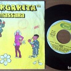 Discos de vinilo: MASSARA - MARGHERITA (MARGARITA) PART 1 & 2 (SINGLE ,MOVIEPLAY). Lote 67756593