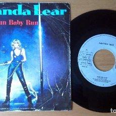 Discos de vinilo: AMANDA LEAR - RUN BABY RUN / FOLLOW ME (SINGLE, ARIOLA). Lote 67757105