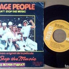 Discos de vinilo: VILLAGE PEOPLE - CAN´T STOP THE MUSIC / MILKSHAKE (SINGLE, RCA). Lote 67757673