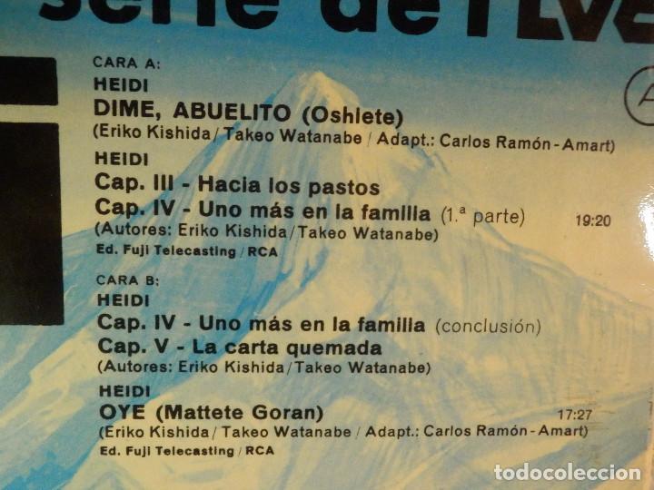 Discos de vinilo: Disco de Vinilo - LP - Heidi - RCA - Español Capitulos 3, 4 y 5 - Foto 5 - 67771889