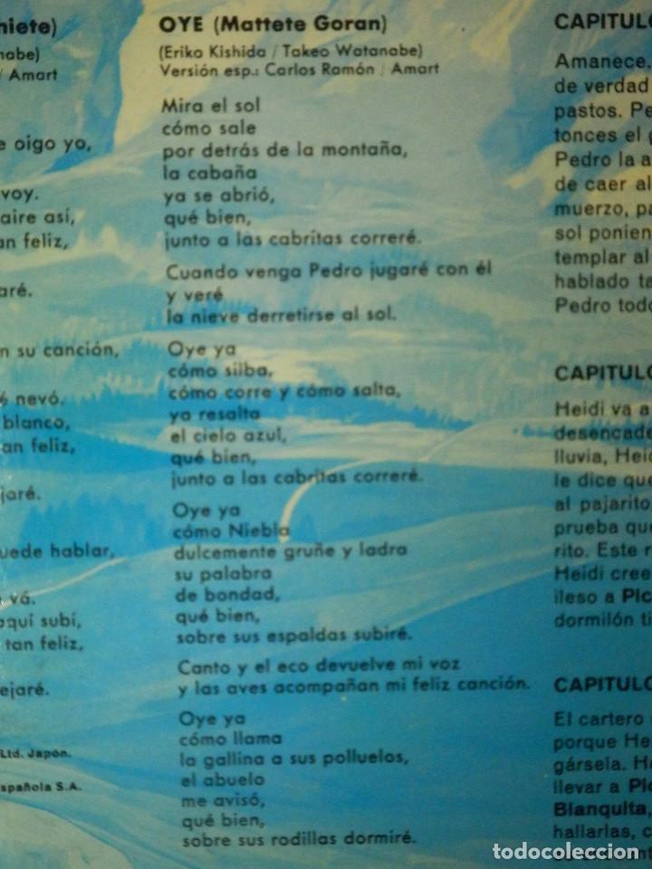 Discos de vinilo: Disco de Vinilo - LP - Heidi - RCA - Español Capitulos 3, 4 y 5 - Foto 7 - 67771889