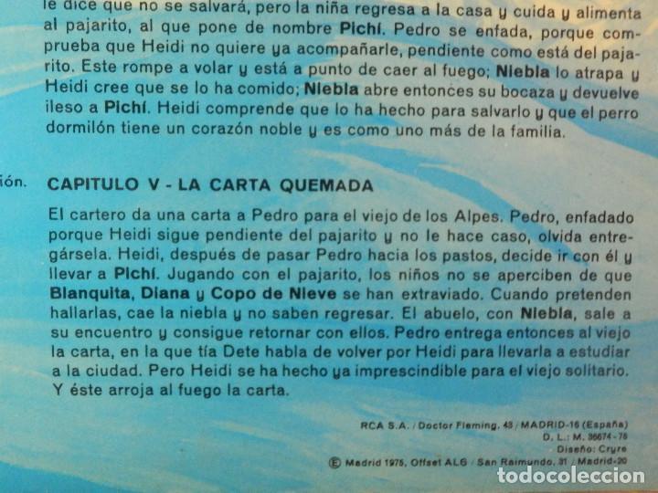 Discos de vinilo: Disco de Vinilo - LP - Heidi - RCA - Español Capitulos 3, 4 y 5 - Foto 10 - 67771889