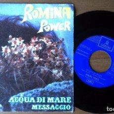 Discos de vinilo: ROMINA POWER - ACQUA DI MARE / MESSAGIO (SN, EMI ODEON). Lote 67825653