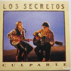 Discos de vinilo: LOS SECRETOS- CULPABLE- SINGLE 1990- VINILO EXC. ESTADO.. Lote 67851225