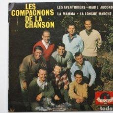 Discos de vinilo: LES COMPAGNONS DE LA CHANSON- LES AVENTURIERS+3- FRENCH EP.. Lote 67855077