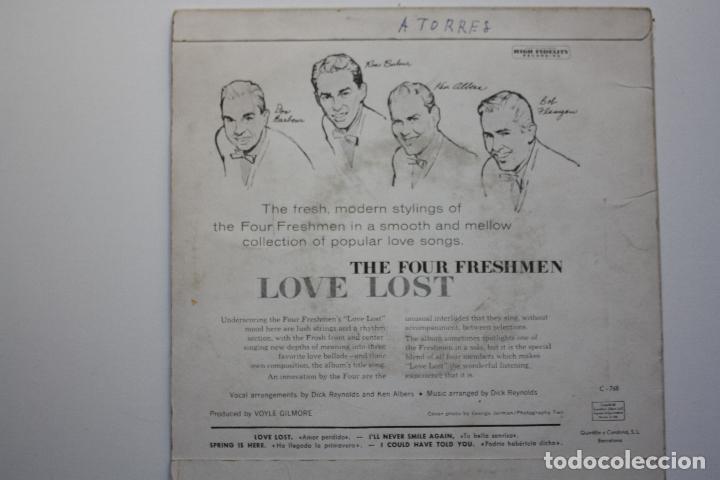 Discos de vinilo: THE FOUR FRESHMEN- LOVE LOST +3- SPANISH EP 1958. - Foto 2 - 67855733