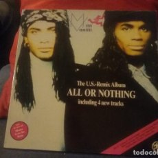 Discos de vinilo: MILLI VANILLI ?– ALL OR NOTHING - THE U.S. REMIX ALBUM. Lote 67876741