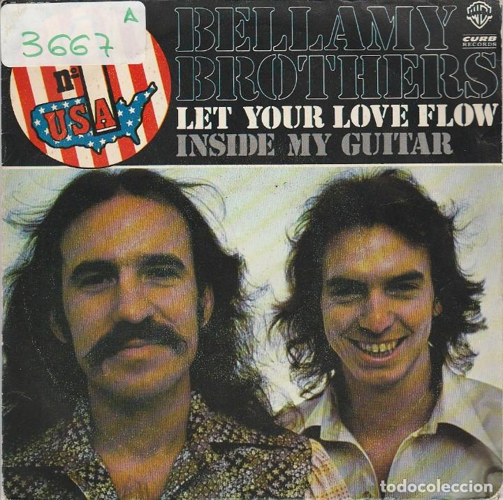 The Bellamy Brothers Let Your Love Flow Inside My Guitar Single 1976