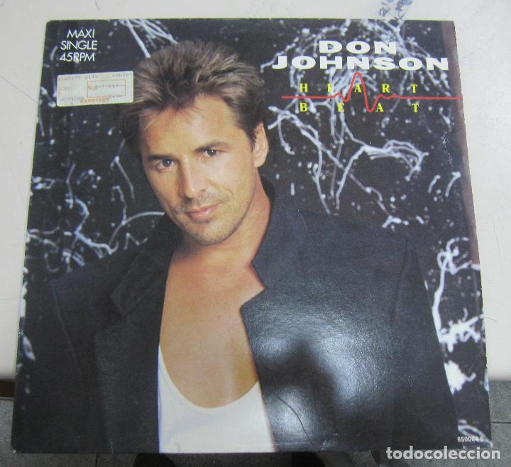 LP DON JOHNSON. HEART BEAT. 1986. CBS INC /EPIC. (Música - Discos de Vinilo - Maxi Singles - Cantautores Extranjeros)