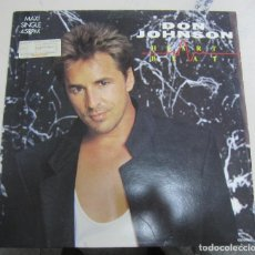 Discos de vinilo: LP DON JOHNSON. HEART BEAT. 1986. CBS INC /EPIC. . Lote 67908729