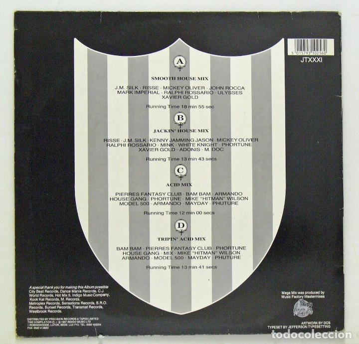 Discos de vinilo: Varios - Jack Trax Mega Mixes 4 (Doble LP Vinilo. Original 1987) - Foto 2 - 67911269
