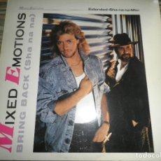 Discos de vinilo: MIXED EMOTIONS - BRING BACK (SHA NA NA) MAXI SINGLE 45 R.P.M. - ORIGINAL ALEMAN - EMI 1987 MUY NUEVO. Lote 67914717