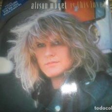 Discos de vinilo: ALISON MOYET - IS THIS LOVE? - MAXI 45 R.P.M. - ORIGINAL INGLES - CBS RECORDS 1986 -. Lote 195456292