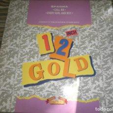 Discos de vinilo: SPAGNA - CALL ME/EVERY GIRL AND BOY - MAXI SINGLE 45 R.P.M. - ORIGINAL INGLES 1989 - MUY NUEVO (5).. Lote 67931957