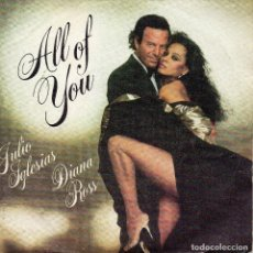 Discos de vinilo: X- JULIO IGLESIAS DIANA ROSS SINGLE 1984. Lote 67951441