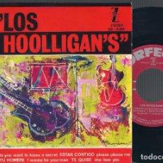 Discos de vinilo: LOS HOOLIGAN'S - EL SECRETO + 3 - EP 1965 ORFEÓN OE-3.014 ED. ESPAÑOLA (VERSIONES BEATLES). Lote 67960257