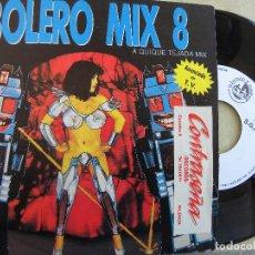 Discos de vinilo: BOLERO MIX 8 A QUIQUE TEJADA MIX -SINGLE PROMO 1991 -BUEN ESTADO. Lote 67964069