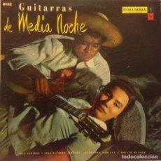 Discos de vinilo: LP DE ARTISTAS VARIOS GUITARRAS DE MEDIANOCHE AÑO 1962. Lote 67983053