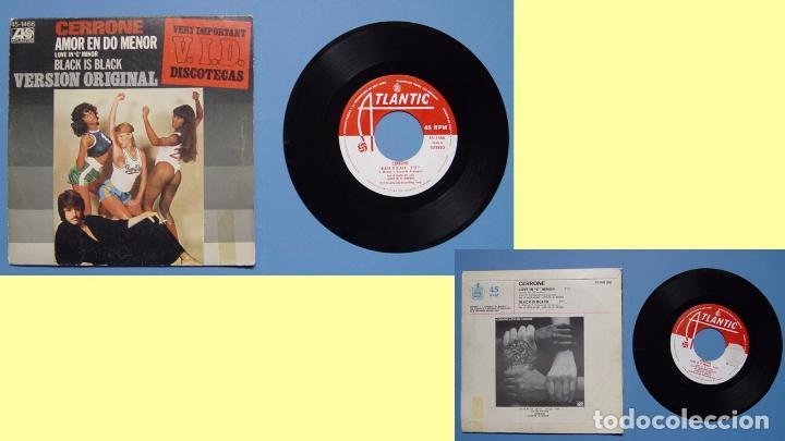 CERRONE (AMOR EN DO MENOR) HISPAVOX, 1977 (VINILO SINGLE) ED. ESPAÑOLA ¡¡COLECCIONISTA!! (Música - Discos - Singles Vinilo - Pop - Rock - Extranjero de los 70)